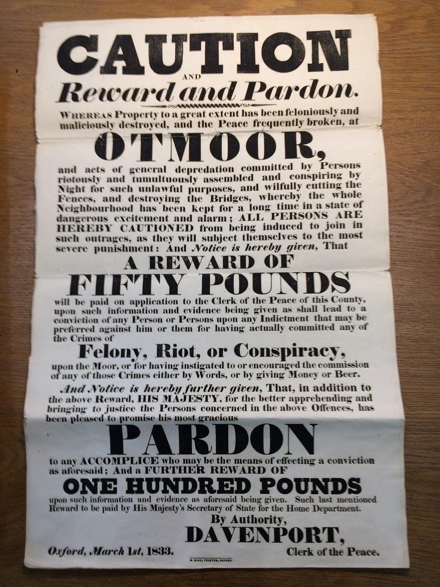 poster otmoor March 1 1833.JPG