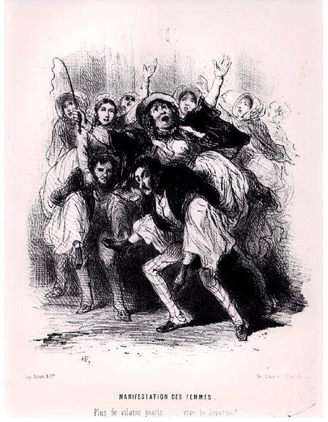 Women Demonstrating, 1848 (litho) (b:w photo), French School, (19th century) : Musee de la Ville de Paris, Musee Carnavalet, Paris, France : Archives Charmet : Bridgeman Images.png